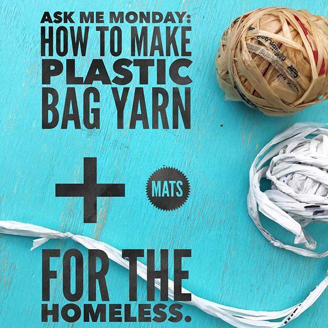 How to make plastic bag yarn (aka plarn) for charity sleep mats. | Vickie Howell #recycle #charity #knitting #crochet #tutorial #plarn