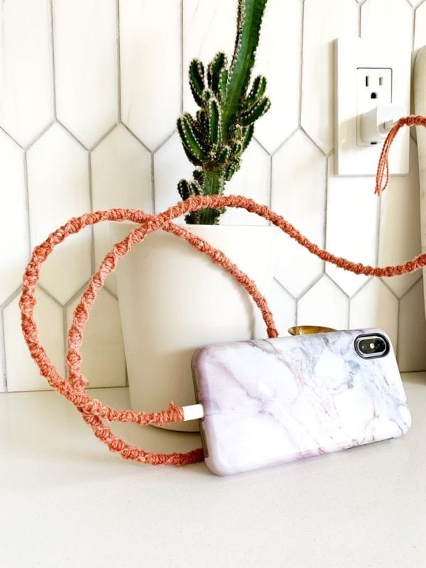 How to make a #macrame charger cord | Vickie Howell for Visible | How to macrame over something.