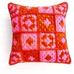 YarnYAY! April Hip to Be Granny Square Pillow by Vickie Howell